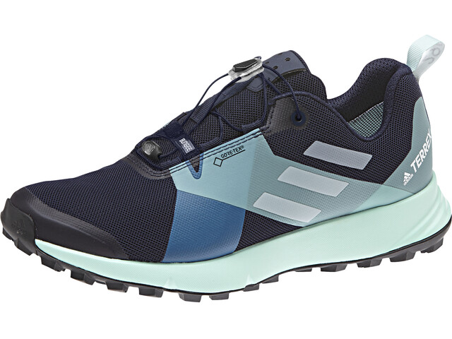 adidas TERREX Two GTX Trail-Running Shoes Women Legend Ink/Crystal White/Bright Blue